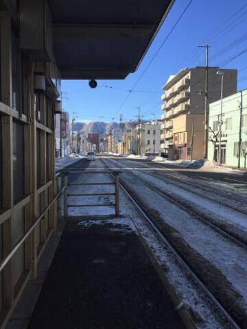 函館市電の朝
