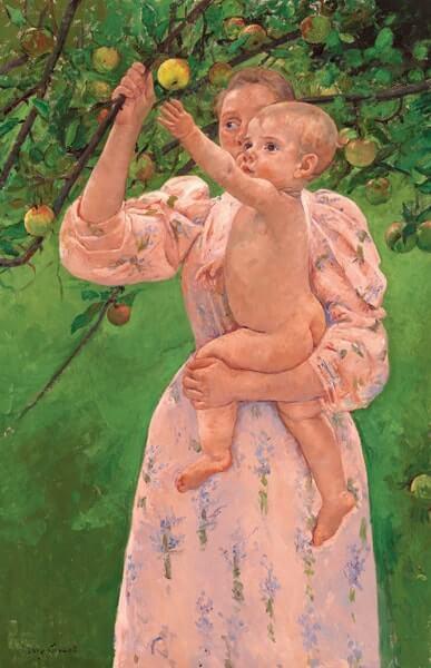 果実を採ろうとする子供